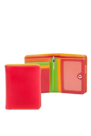leren portemonnee Medium rood