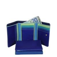Mywalit leren portemonnee Medium blauw, Blauw