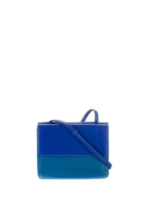 leren paspoorthoes Travel Organiser blauw