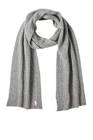 kasjmier sjaal grijs melange