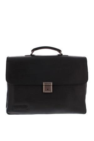 15.6 inch leren business tas Navigator Morse zwart
