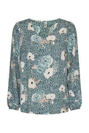 blouse SC-DALLAS 1 met all over print groen
