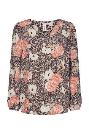 blouse SC-DALLAS 1 met all over print roze