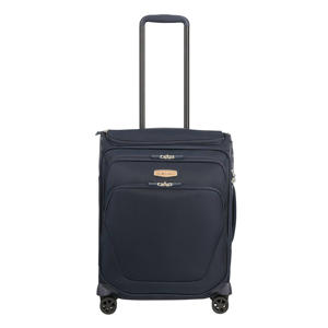 trolley Spark SNG Eco Spinner 55 cm. Toppocket blauw