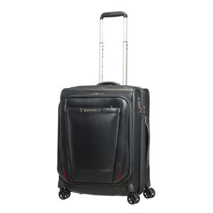trolley Pro-DLX 5 LTH Spinner 55 cm. Expandable zwart