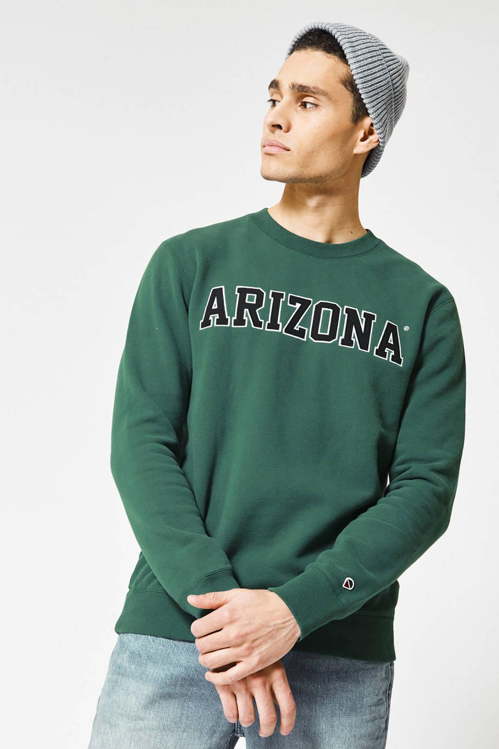 America Today sweater Sage Arizona met tekst groen, Groen