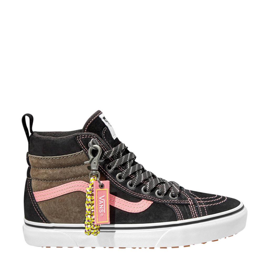 VANS SK8-Hi  sneakers zwart/bruin/roze, Zwart/bruin/roze