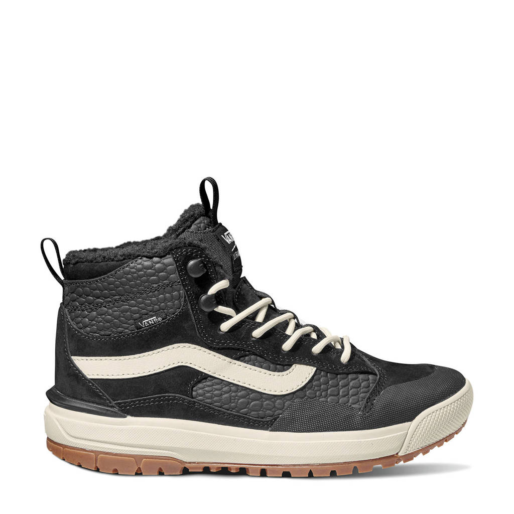 VANS UltraRange EXO Hi  leren sneakers zwart, Zwart