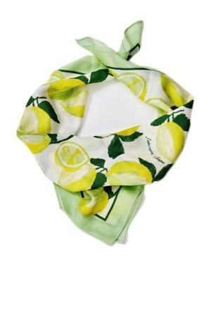 sjaal Carry mintgroen/geel