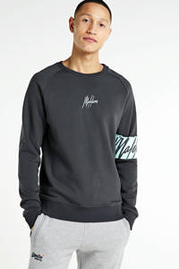 Malelions sweater met logo grijs, Grijs