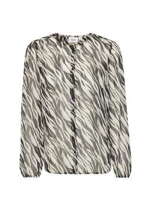 blouse Dedna met all over print creme