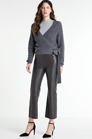 wikkelvest met wol  grijs