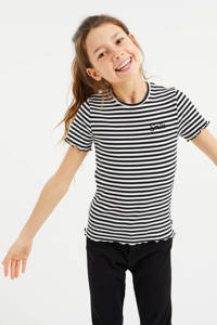 WE Fashion T-shirt - set van 3 zwart/wit, Zwart/wit