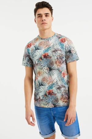 T-shirt met all over print multi