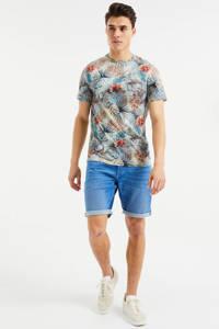 WE Fashion T-shirt met all over print multi, Multi
