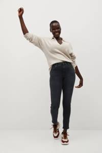 Violeta by Mango push-up super skinny jeans Irene Bi- stretch black denim, Black denim