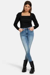 Shoeby Eksept top Crinkle met textuur zwart, Zwart
