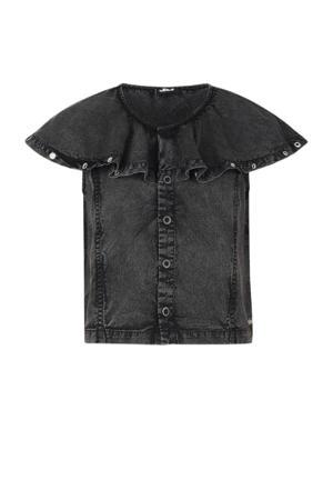 blouse Fuji donkergrijs