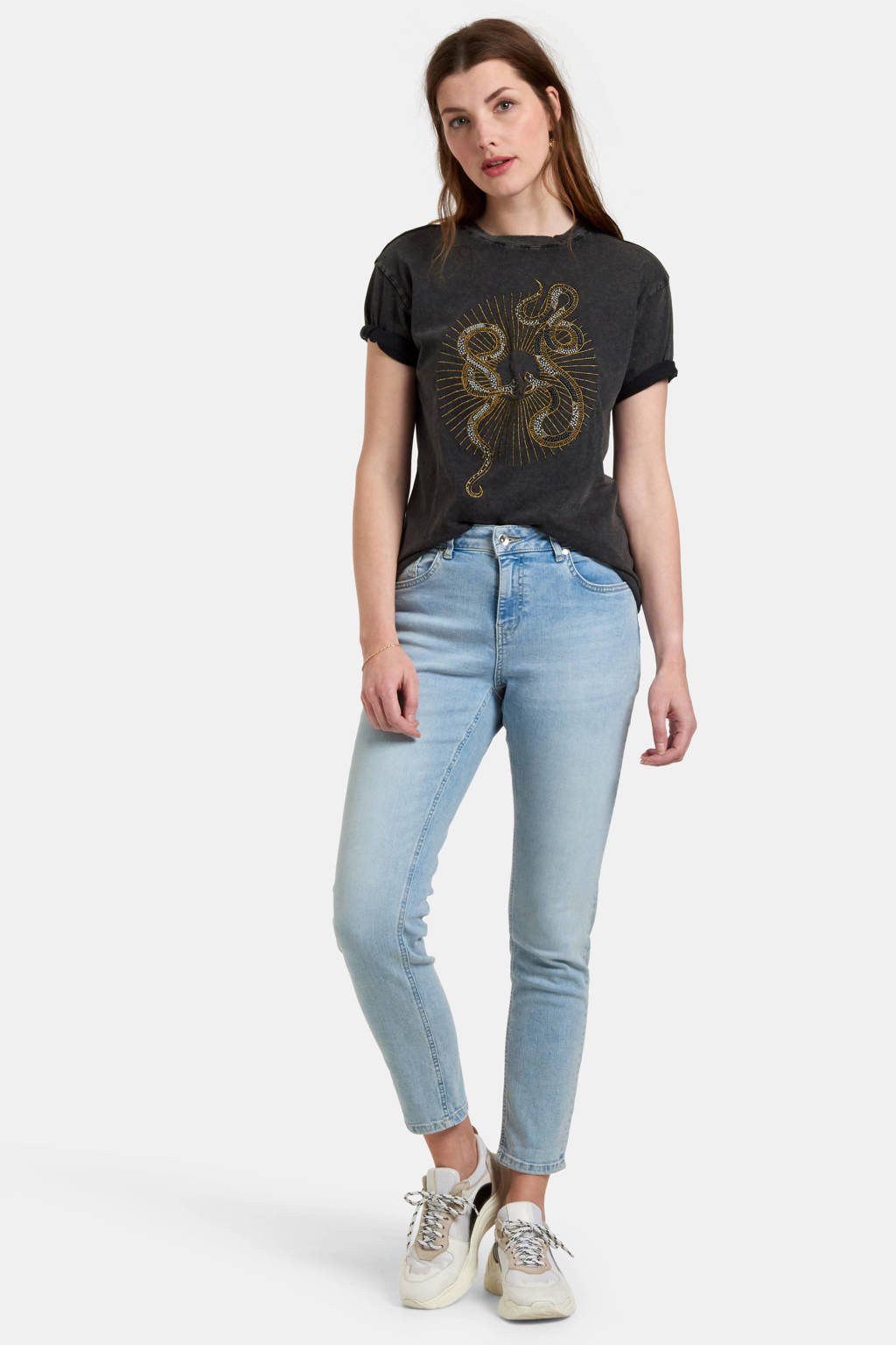 Eksept by Shoeby skinny jeans Ametist lichtblauw, Lichtblauw