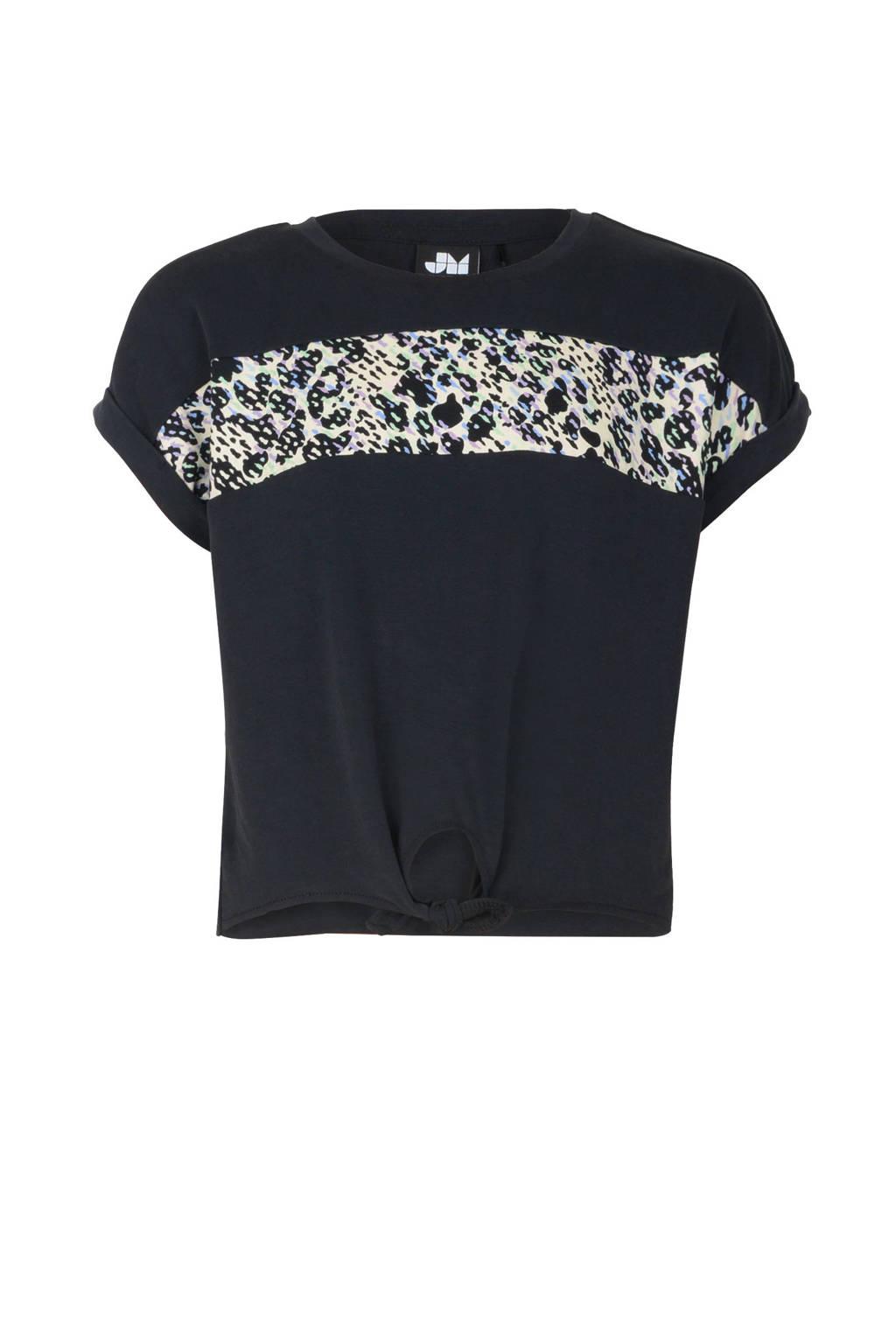 Jill & Mitch by Shoeby T-shirt Fianne met printopdruk zwart/wit, Zwart/wit