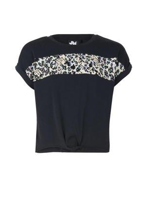 T-shirt Fianne met printopdruk zwart/wit