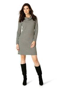 ES&SY jurk met pied-de-poule wit/zwart, Wit/zwart