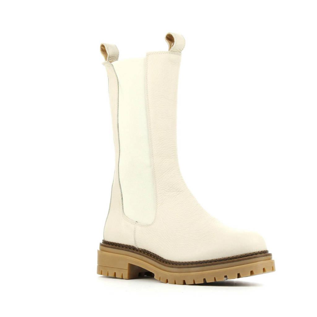 Cashott 24204  leren chelsea boots off white, Off White