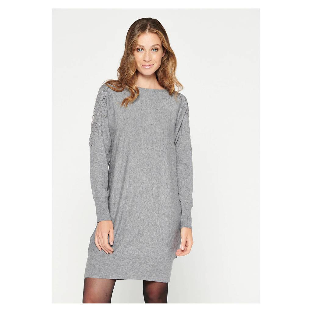 LOLALIZA jurk grey mid mel, GREY MID MEL