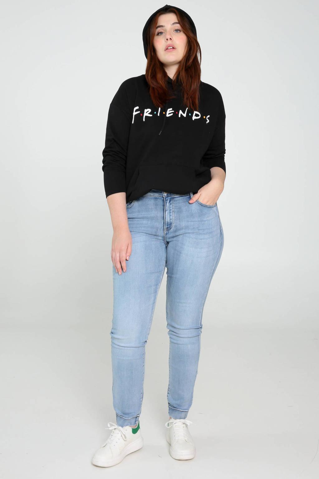 Paprika hoodie met printopdruk zwart/wit/multi, Zwart/wit/multi