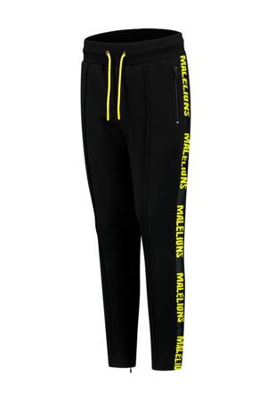 skinny joggingbroek met logo zwart/neon geel
