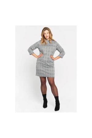 geruite jurk grey mid mel