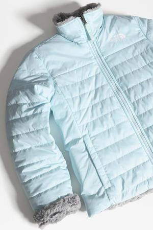 reversible jas Mossbud Swirl lichtblauw/grijs