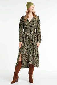 Hailys maxi blousejurk Camilla met all over print groen, Groen