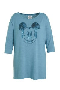 Disney @ C&A Minnie Mouse T-shirt met strass steentjes blauw, Blauw