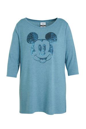 Minnie Mouse T-shirt met strass steentjes blauw