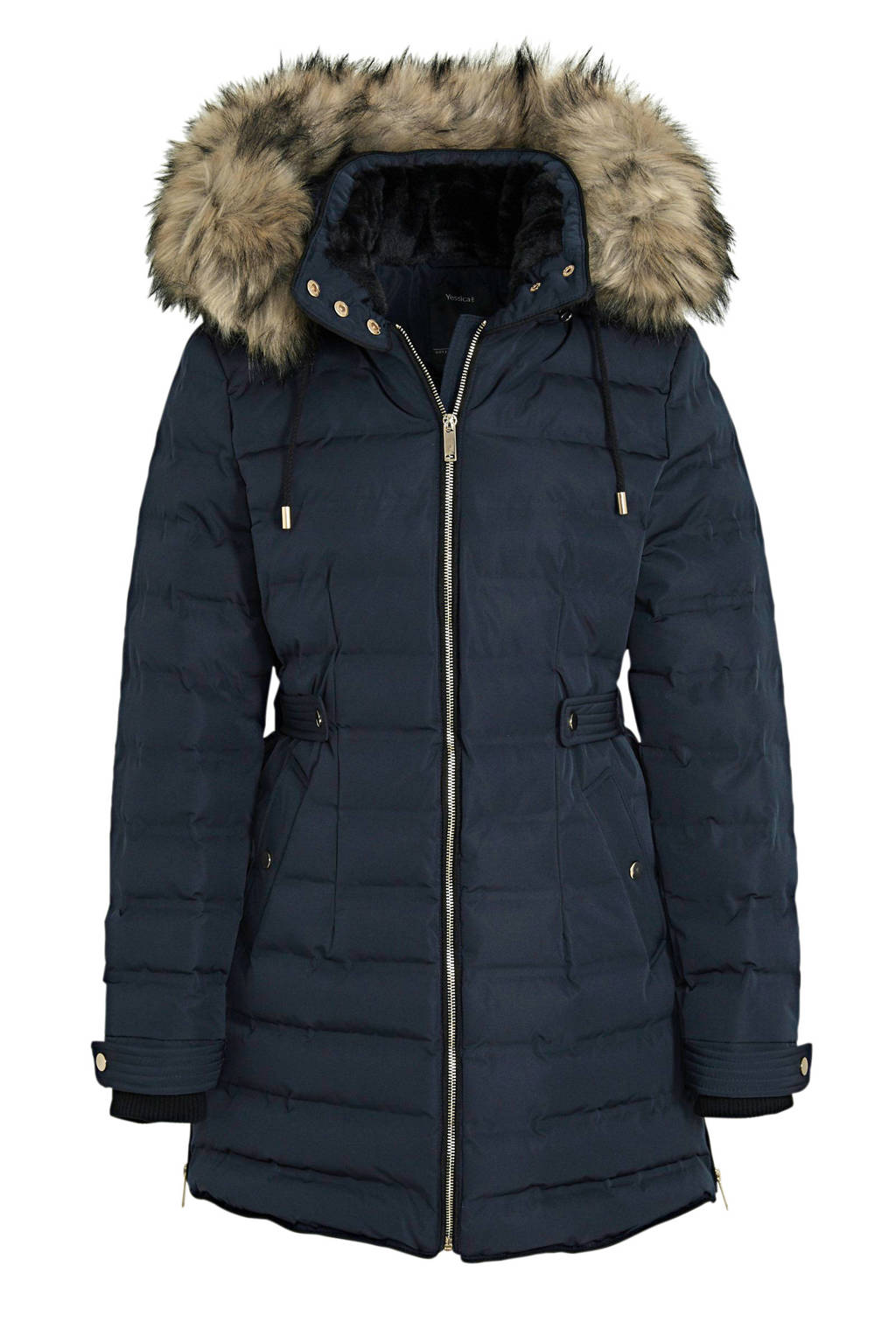C&A Yessica gewatteerde jas donkerblauw, Donkerblauw