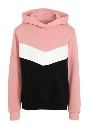 hoodie roze/zwart/wit
