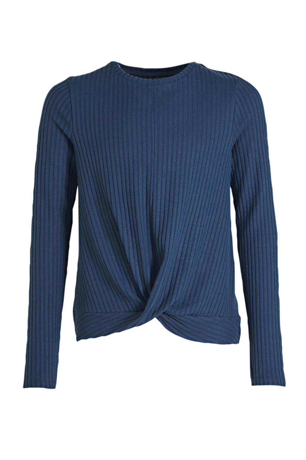 C&A Here & There fijngebreide trui donkerblauw, Donkerblauw