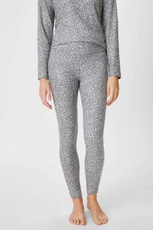 legging met panterprint lichtgrijs/grijs