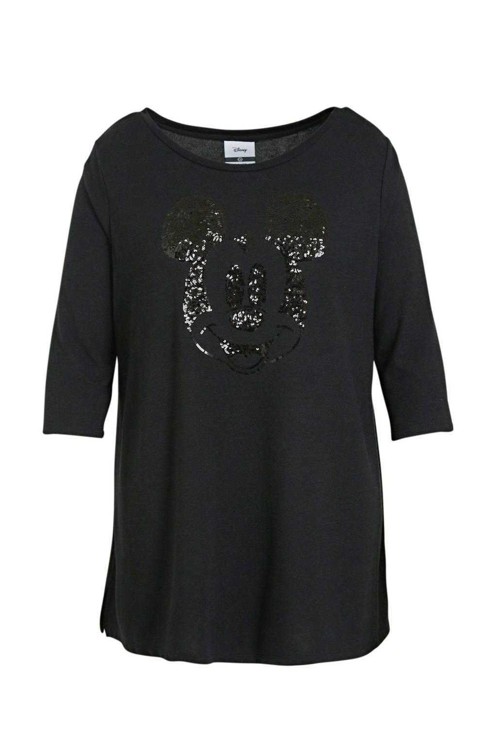 Disney @ C&A Minnie Mouse T-shirt met strass steentjes zwart, Zwart