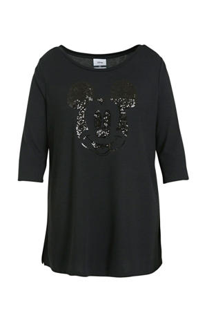 Minnie Mouse T-shirt met strass steentjes zwart
