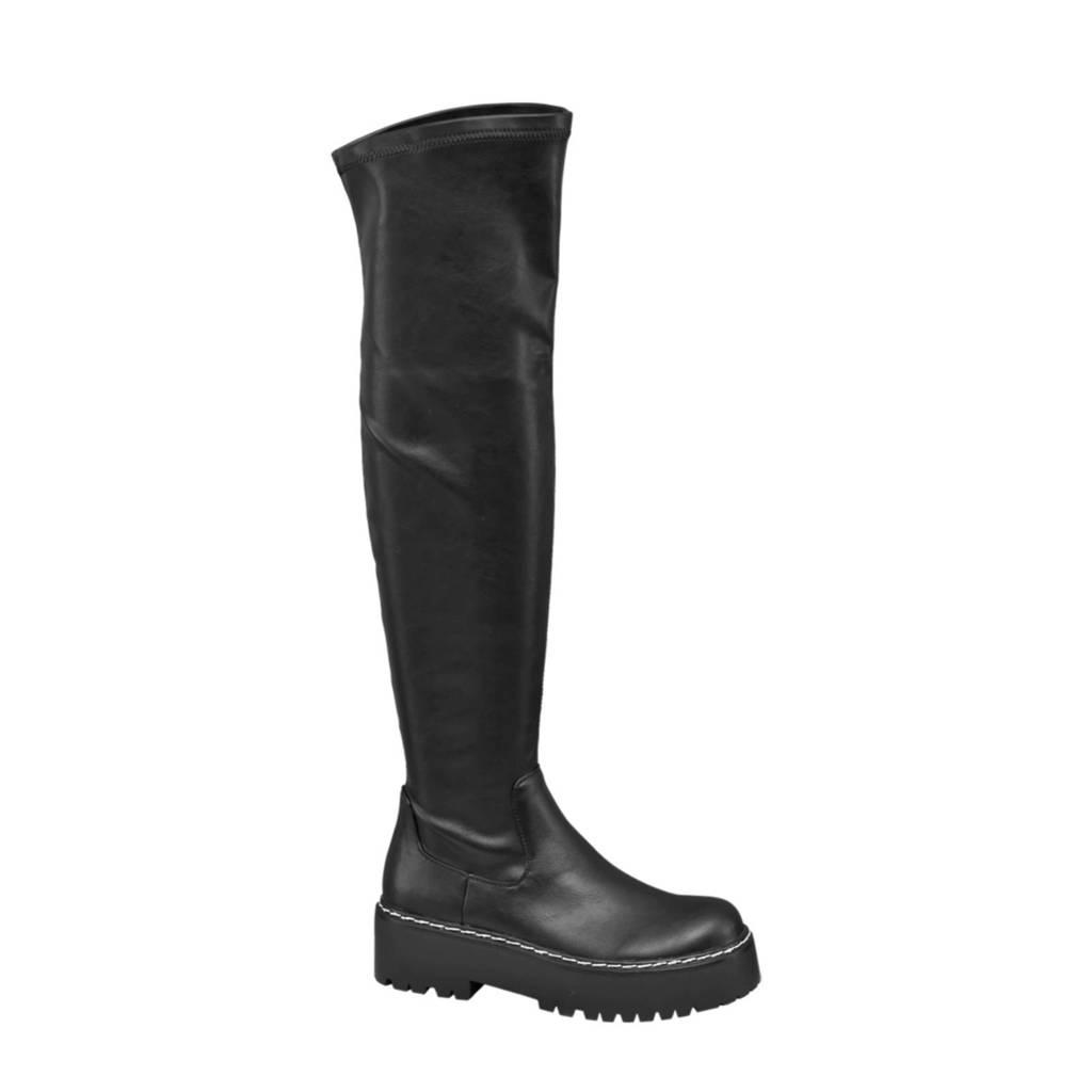 Oxmox   overknee laarzen zwart, Zwart