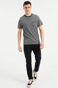 WE Fashion T-shirt met contrastbies royal navy, Royal Navy