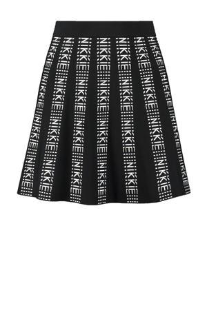 A-lijn rok Katy met logo zwart/wit