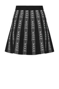 NIKKIE A-lijn rok Katy met logo zwart/wit, Zwart/wit