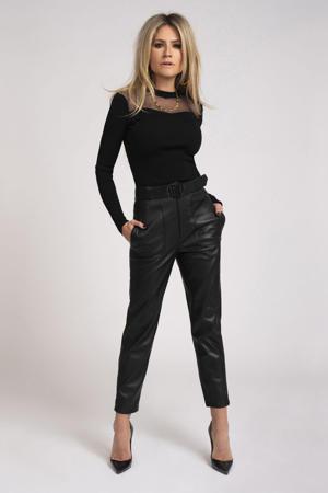 semi-transparante top Katy zwart