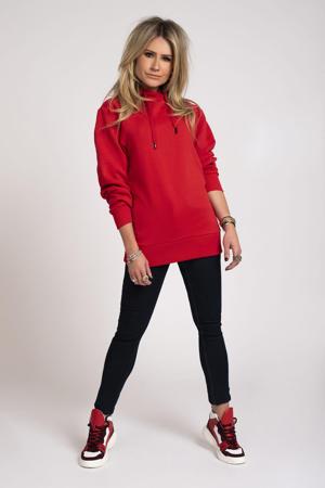 hoodie Round Art met printopdruk rood