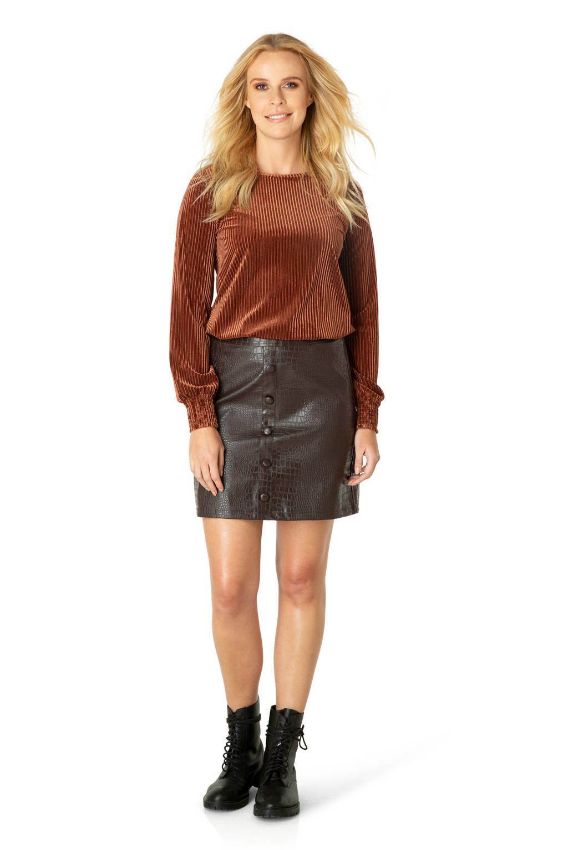 Ivy Beau coated rok zwart, Zwart