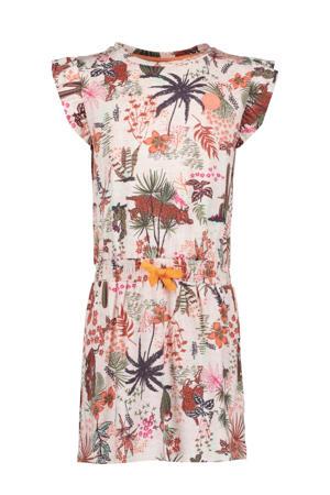 jurk met all over print roze/multicolor