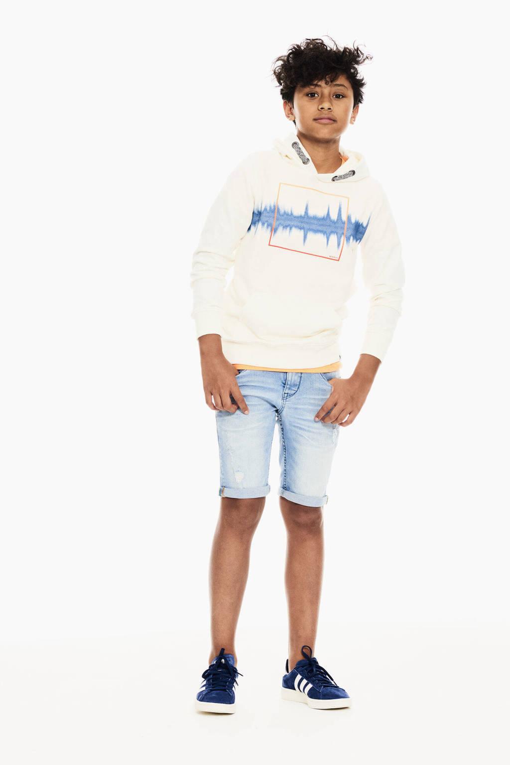Garcia hoodie met printopdruk offwhite, Offwhite
